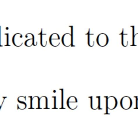 Acknowledgements in a thesis